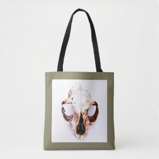 SQUIRREL SKULL tote taupe Tote Bag