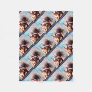 Squirrel squirrel Écureuil Fleece Blanket