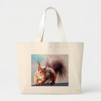 Squirrel squirrel Écureuil Large Tote Bag