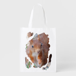 Squirrel - Squirrel - Écureuil - photo Glineur Reusable Grocery Bag