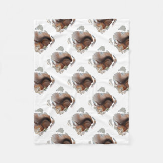 SQUIRREL SQUIRRELS ÉCUREUIL FLEECE BLANKET