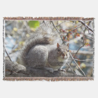 Squirrel throw blanket
