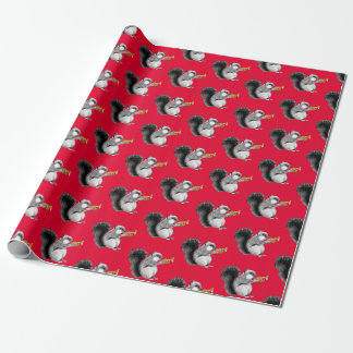Squirrel Trumpeter Wrapping Paper