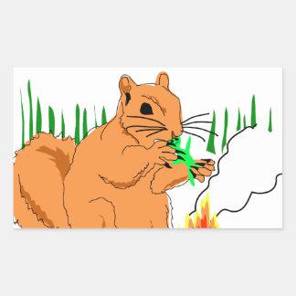 Squirrel vs. Aliens Rectangular Sticker