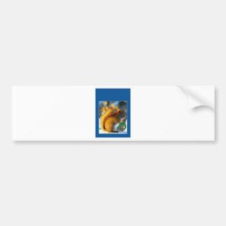 squirrel w wreath bumper stickers