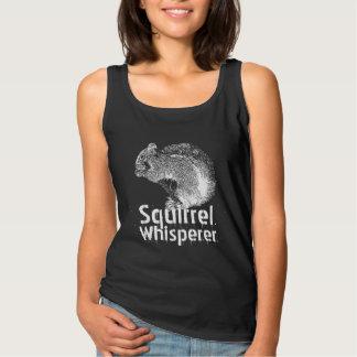 Squirrel Whisperer Black & White Singlet
