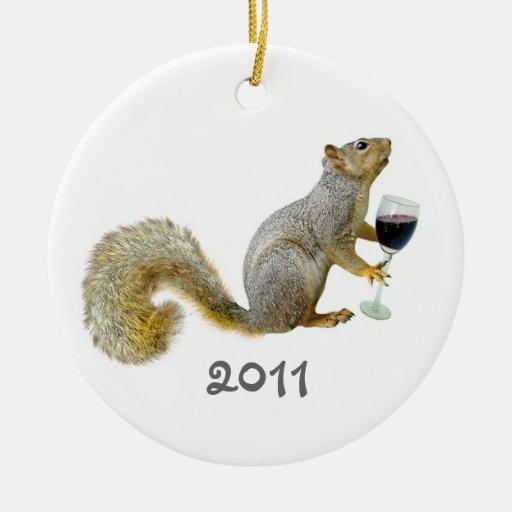 Squirrel Wine 2011 Ornament
