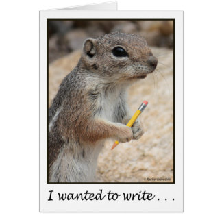 Squirrel With a Pencil Card