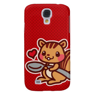 Squirrel with a spoon samsung galaxy s4 case