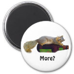 Squirrel with Empty Beer Bottle Magnet