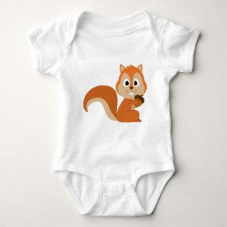 squirrel with nut baby bodysuit