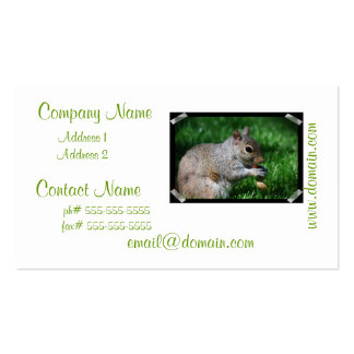 Squirrel with Nut Business Cards