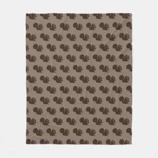 Squirrel with Nut Pattern Fleece Blanket