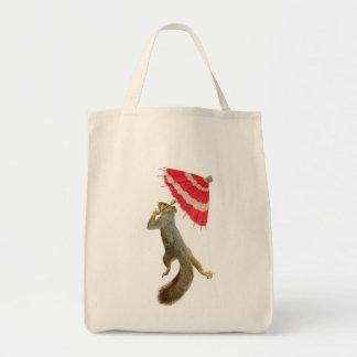 Squirrel with Parasol Bag