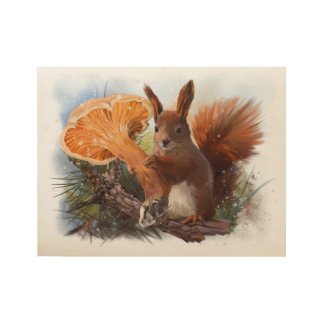 Squirrel Wood Poster