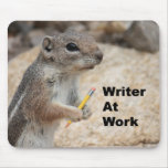 Squirrel Writer Mousepad