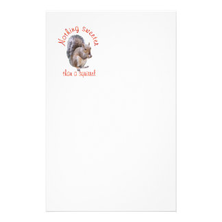 Squirrels are Sweet Personalized Stationery