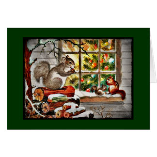 Squirrels at the Window Card