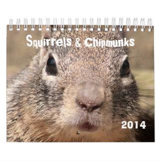Squirrels & Chipmunks Calendars