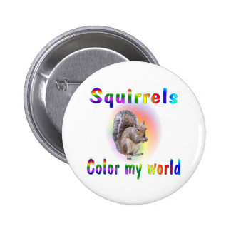 Squirrels Colour My World 6 Cm Round Badge