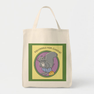 Squirrels for Cheese Tote