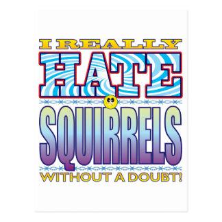 Squirrels Hate Face Postcard