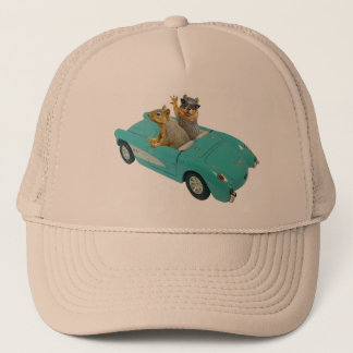 Squirrels in Car Hat