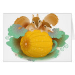 squirrels in the pumpkin patch greeting cards