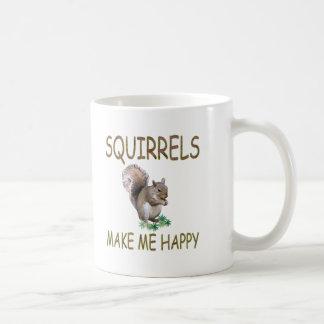 Squirrels Make Me Happy Coffee Mug
