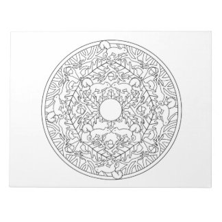 Squirrels Mandala Coloring Book Pad