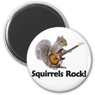 Squirrels Rock! Magnet
