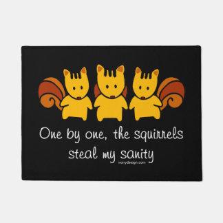 Squirrels steal my sanity doormat