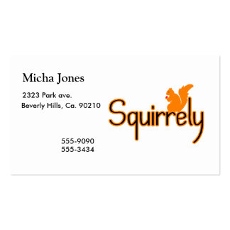 Squirrely Squirrel Pack Of Standard Business Cards