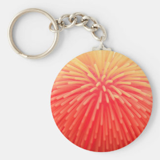 Squishy Ball Abstract Red Orange Glow Key Ring