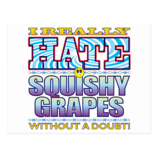 Squishy Grapes Hate Face Postcard