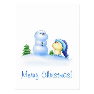 Squishy Littlekins in the Snow Postcard