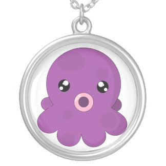 Squishy the Squid Silver Plated Necklace