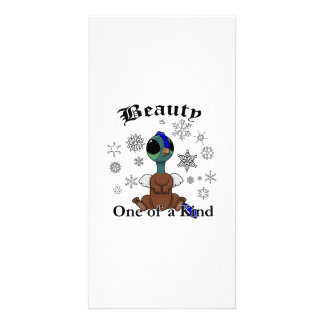Squite Beauty is one of a kind with snowflakes Personalized Photo Card