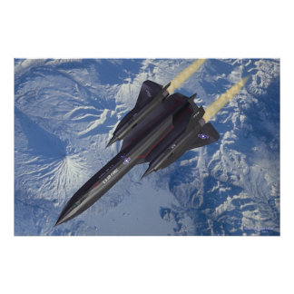 SR-71 over Kamchatka Poster