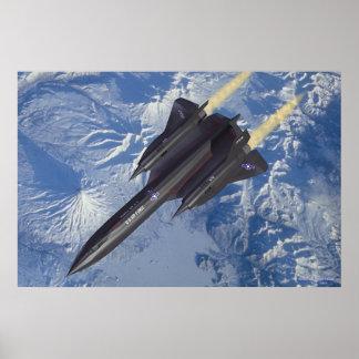 SR-71 over Kamchatka Print