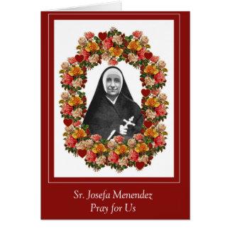 Sr. Josefa Menendez Nun Roses Card