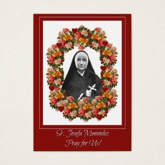 Sr. Josefa Menendez Nun Roses Prayer Novena Business Card