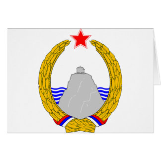 SR Montenegro coat of arms Card