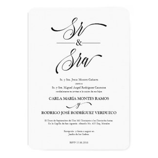 Sr y Sra Spanish Wedding Invitation