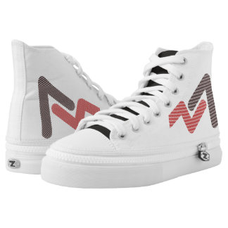 SR Zips High shoes - size US 7 Printed Shoes