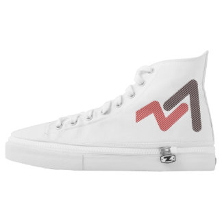 SR Zips High shoes - US 8 Printed Shoes