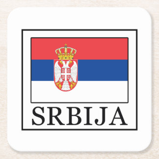 Srbija Square Paper Coaster