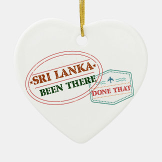Sri Lanka Been There Done That Ceramic Heart Decoration