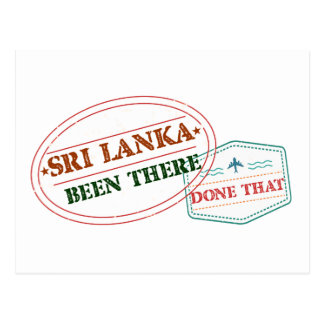 Sri Lanka Been There Done That Postcard