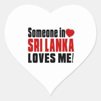 SRI LANKA Celebrating Years Of Being Awesome Heart Sticker